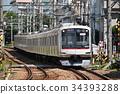 火车 电气列车 东急东横线 34393288