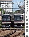 火车 电气列车 东急东横线 34393323