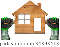 Wooden House - Construction Industry Concept 34393413