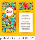 autumn, flyer, happy 34393821