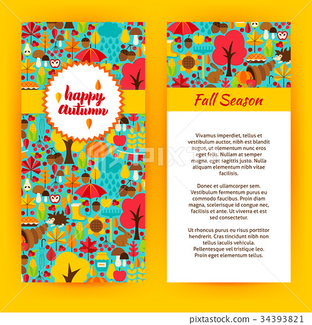 Flyer Template of Happy Autumn 34393821