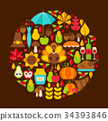 Flat Thanksgiving Day Concept 34393846