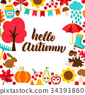 autumn, greeting, fall 34393860