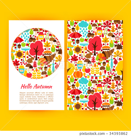 Hello Autumn Flyer Template 34393862