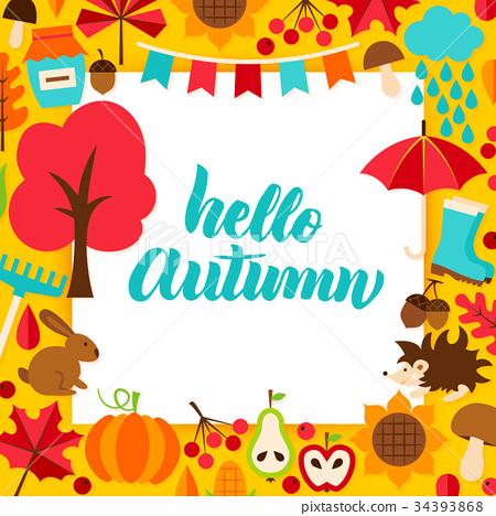 Hello Autumn Paper Concept 34393868