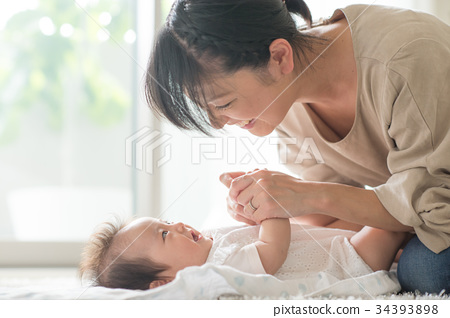 모자, 엄마와 아들, 엄마 34393898