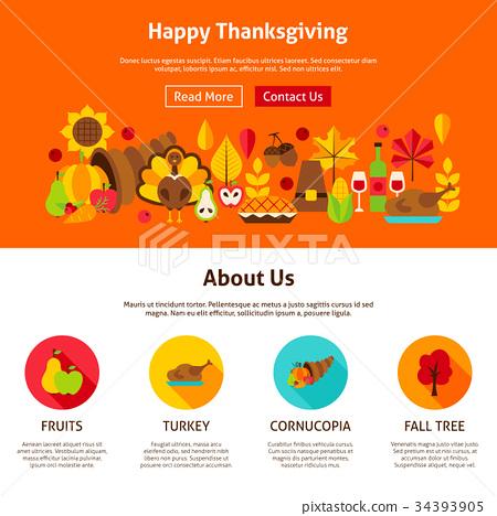 Web Design Happy Thanksgiving 34393905