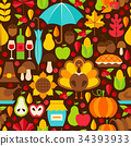 Thanksgiving Holiday Seamless Pattern 34393933