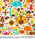 Thanksgiving Day Seamless Pattern 34393964