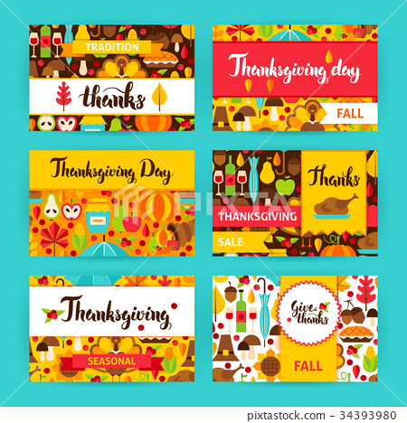 Thanksgiving Label Set 34393980