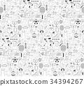 Doodle sports elements. Vector illustration  34394267