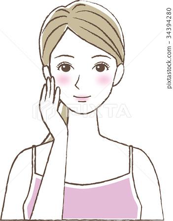 成熟的女人 一個年輕成年女性 女生 34394280