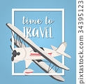 travel with airplane background 34395123