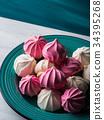 meringue, pink, marshmallow 34395268