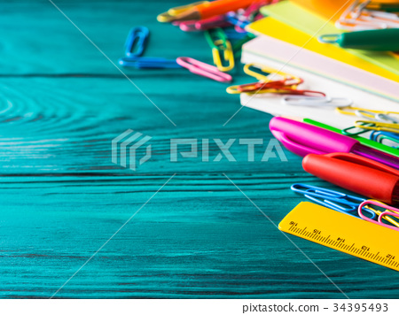 Stationery colorful school writing tools pens 34395493