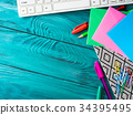 Stationery colorful school writing tools keyboard 34395495