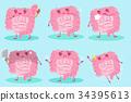 cute cartoon intestine 34395613