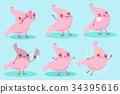cute cartoon stomach 34395616