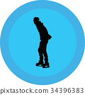 ice skate silhouette 34396383
