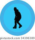 ice skate silhouette 34396389