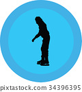 ice skate silhouette 34396395