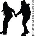 ice skate silhouette 34396396