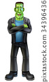 Halloween Cartoon Frankenstein 34396436