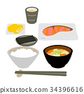 อาหารเช้า,อาหารญี่ปุ่น,อาหาร 34396616
