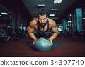 男性 男人 健身房 34397749