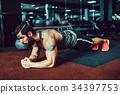 男性 男人 健身房 34397753