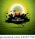 Vector illustration on a Halloween theme 34397799