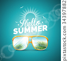 Vector illustration on a summer holiday theme 34397882