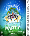 background, party, summer 34397975