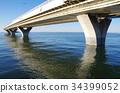 바다, 도쿄만 아쿠아라인, 다리 34399052
