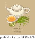 lemongrass tea illustration 34399126