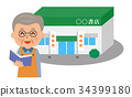 Bookstore and storekeeper 34399180