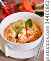 Tom Yum Kung with noodles, Thai food 34400862