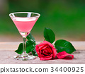punch juice on nature outdoor background 34400925