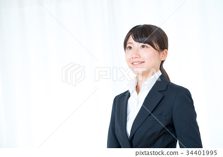 Female female office worker in suit suit office lady OL new employee newcomer fresh 34401995