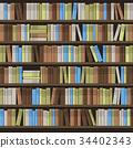 library, vector, shelf 34402343