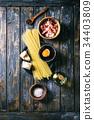 乾酪沙司 意大利面 原料 34403809