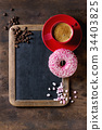 Chalkboard and coffee 34403825