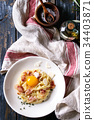 carbonara, pasta, bacon 34403871