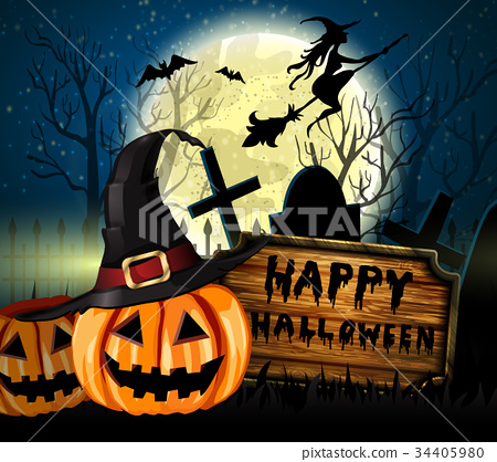 Halloween spooky background 34405980