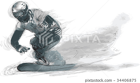 Athletes with physical disabilities - SNOWBOARD 34406875