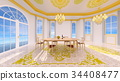 dining, room, dining-room 34408477