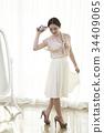젊은여자, 포즈, 한국 34409065