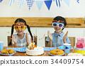 생일, 어린이, 친구 34409754