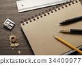 만년필, 연필, 연필깎이 34409977