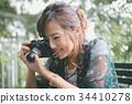 photocamera female lady 34410278
